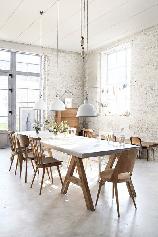 Mismatched wooden dining chairs | Image by Pascal François via Rum Hemma