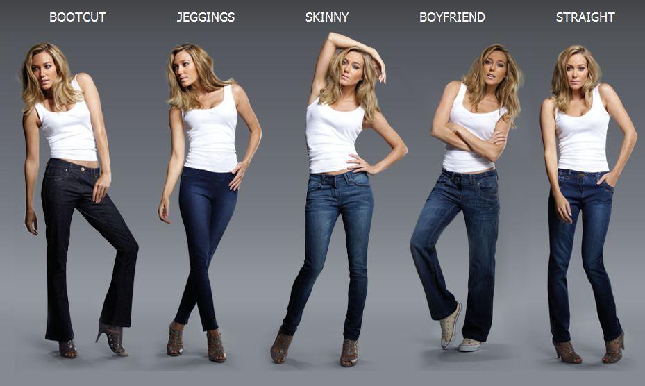 Fitted jeans vs skinny jeans – Global fashion jeans models
