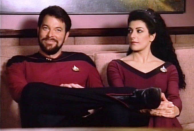 Deanna Troi e William Riker