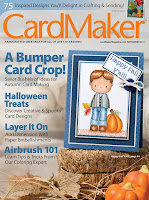 "Woohoo! I'm the ""Featured Designer"" in the Sept. Issue of CardMaker magazine!"