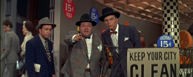 Sinatra, Stubby Kaye and Johnny Silver Guys and Dolls 1955 movieloversreview.blogspot.com