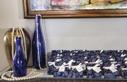 Mesa da festa das bodas de pérola em casa