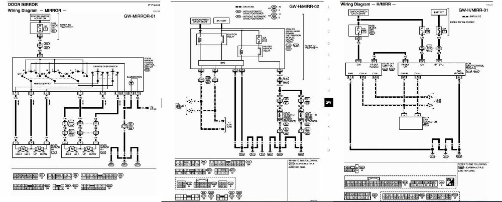 Nissan+Titan+2007+Power+Heated+Mirrors+Wiring+Diagram nissan titan 2007 power heated mirrors wiring diagram all about heated mirror wiring diagram at mifinder.co