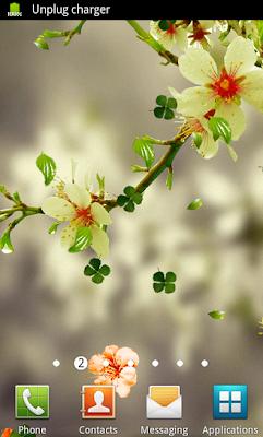 Falling Spring Flowers Theme