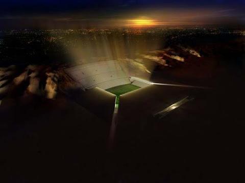 Pencahayaan Stadion di malam hari