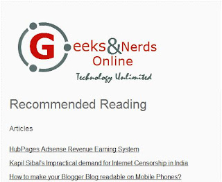 Geeks and Nerds Customized Blogger Blog