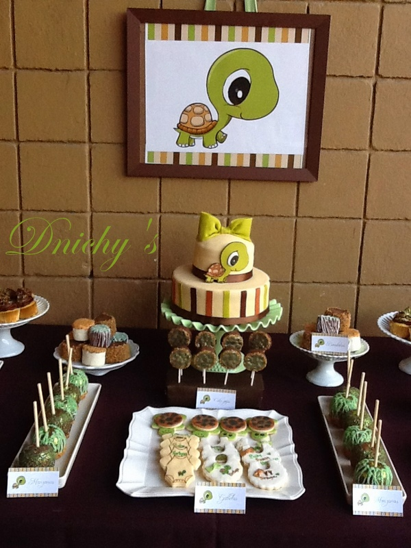 dnichys cakes and cookies tortuga turtle baby shower