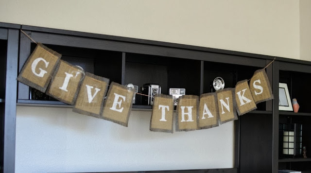 Give Thanks DIY Burlap Banner