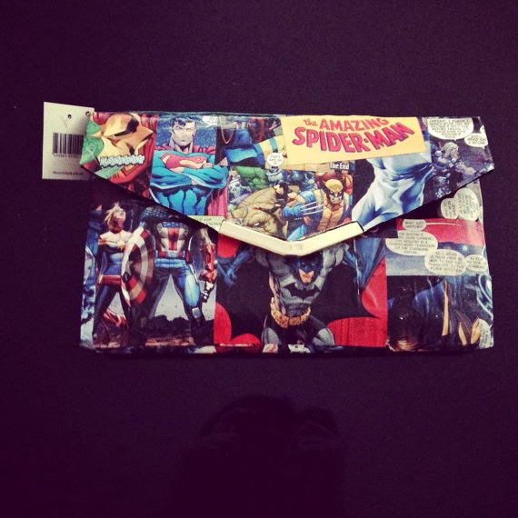 comic hero clutch bag