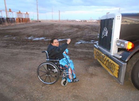 Lakota Woman Halts Oilfield Megaload: NO! to Fat Takers!