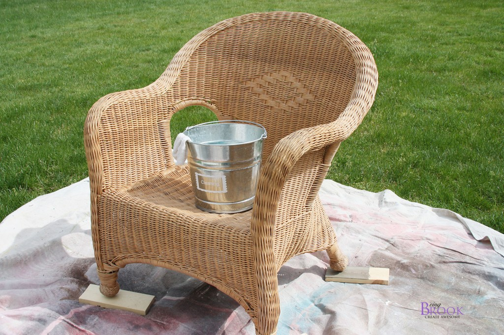 How To Paint Wicker Porch Makeover Beingbrook