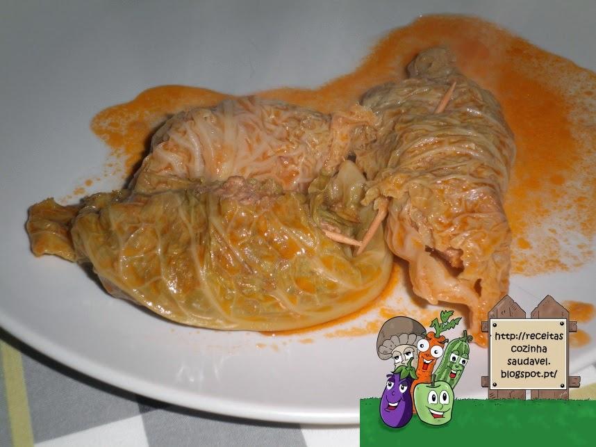 Carne Picada Enrolada em Couve-lombarda