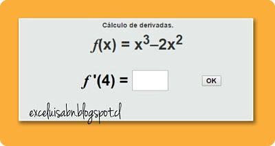 Calculo de derivadas.