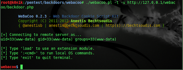 WeBaCoo (Web Backdoor Cookie)
