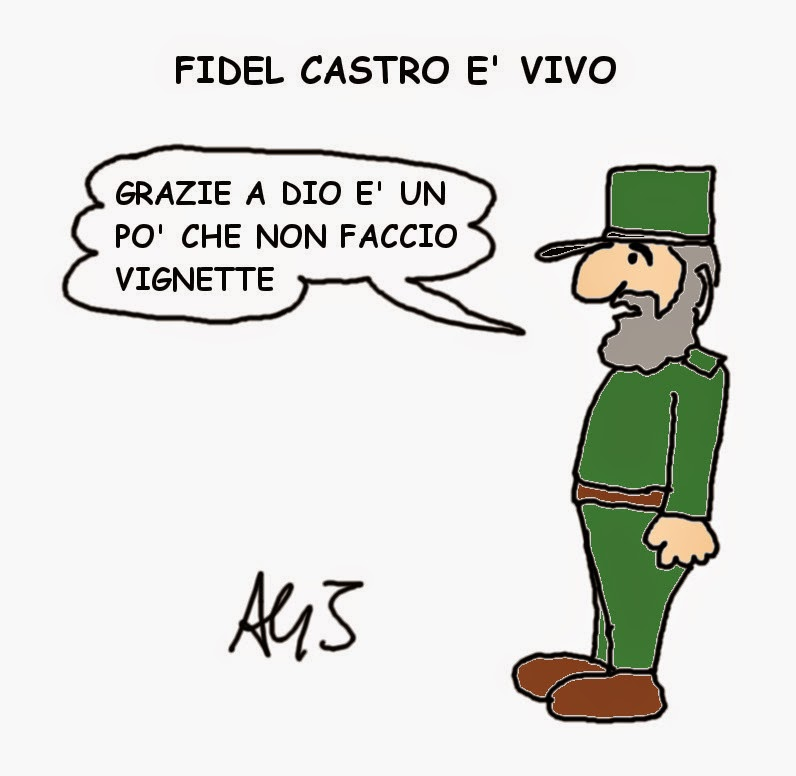 Fidel Castro, charlie hebdo, vignetta, satira
