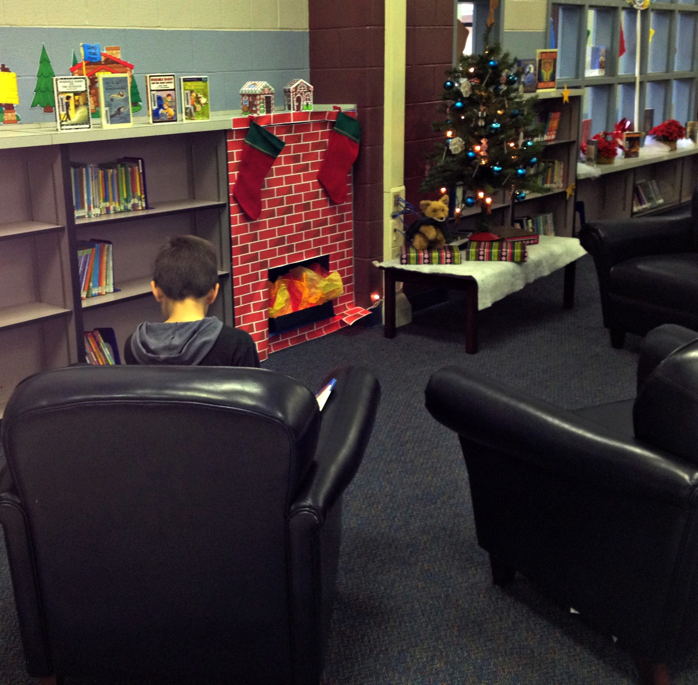 Fun And Cozy Library Design By Yta: Reading Is Sweet (in A Gingerbread House)
