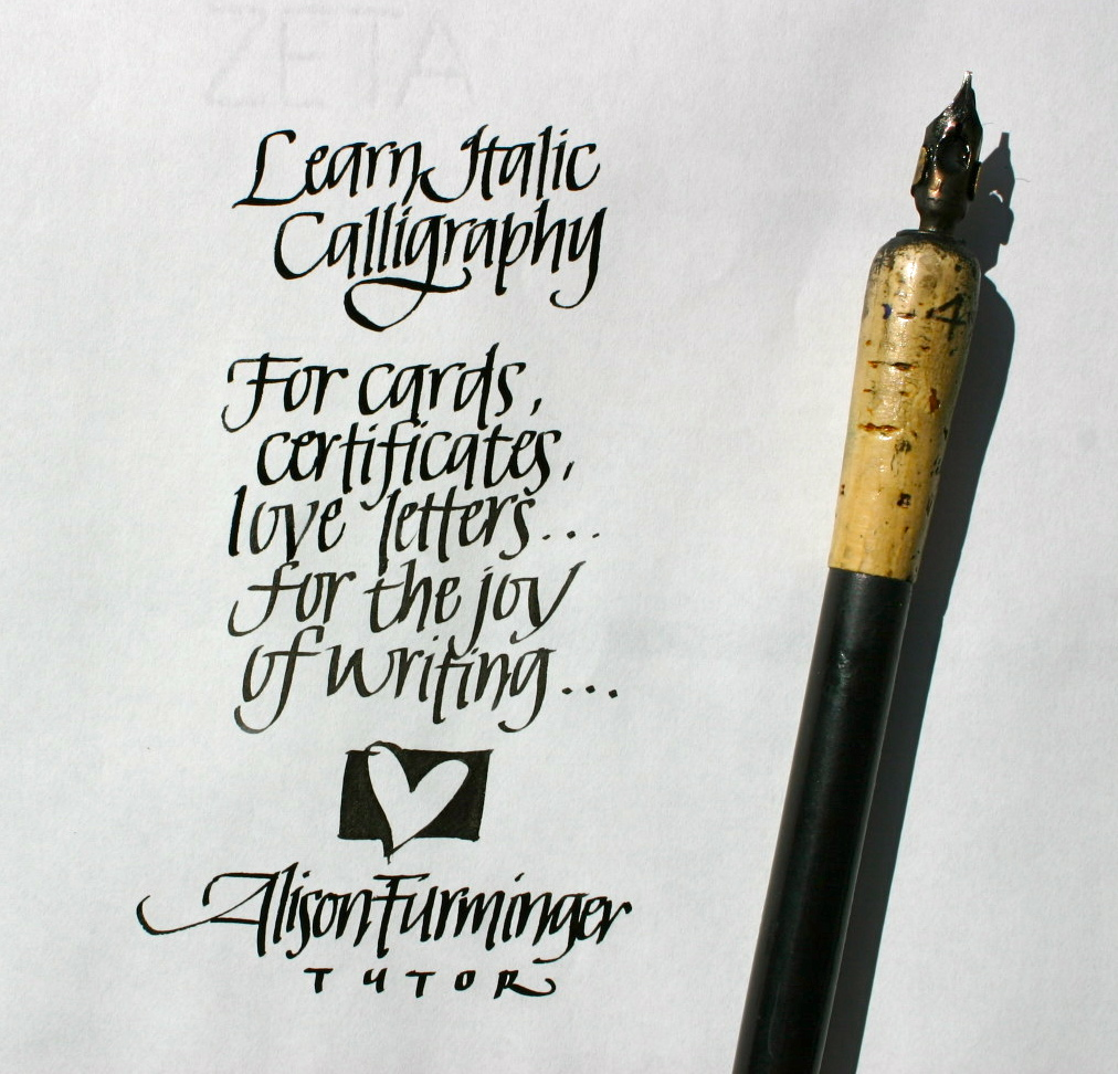 Italic Calligraphy - Viewing Gallery