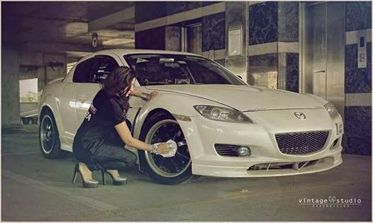 Hot Girl in Mazada Rx8