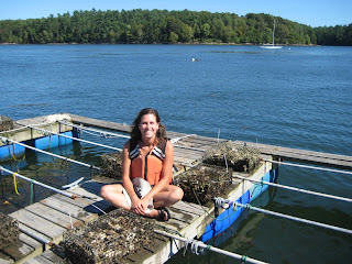 Megan Glenn restoring oysters on New Hampshire's Great Bay
