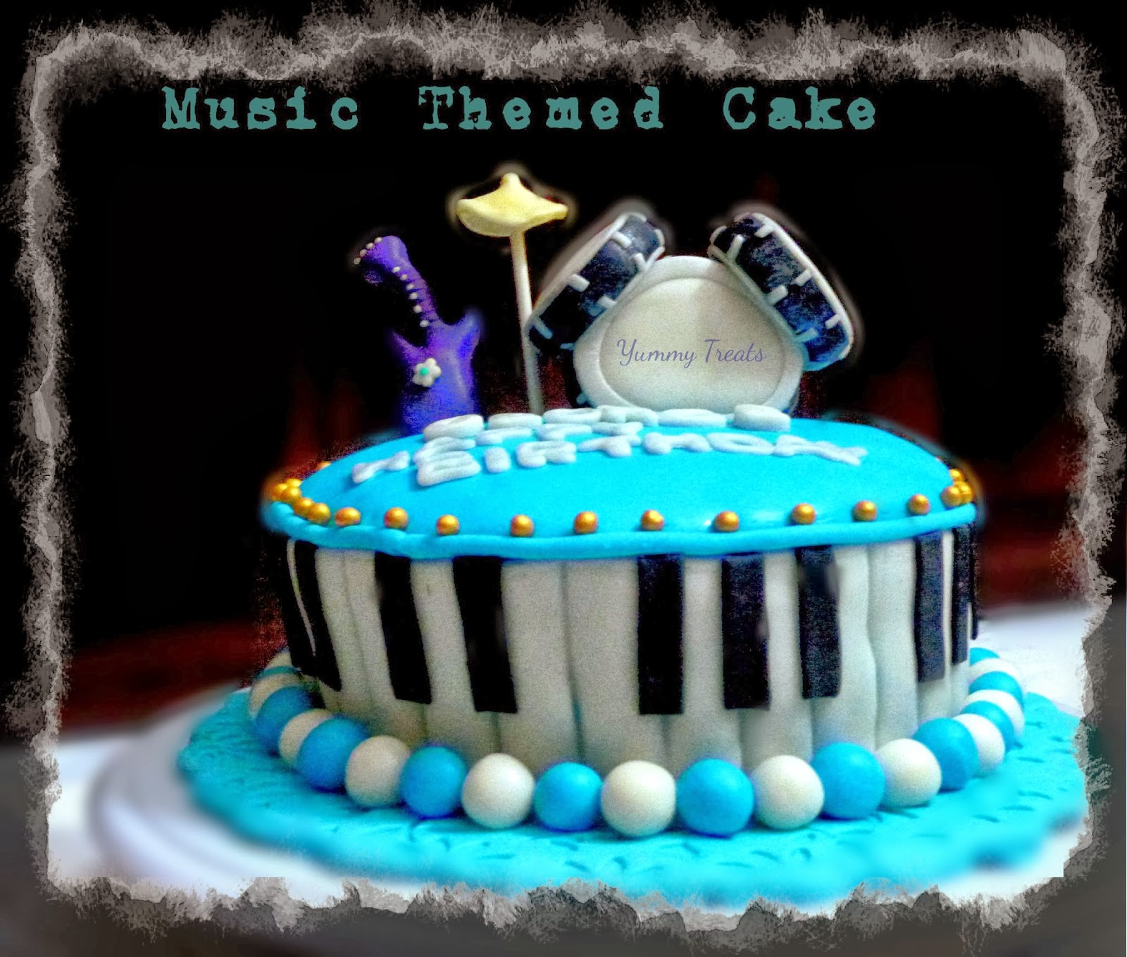 Yummy Treats Music Themed Birthday Cake