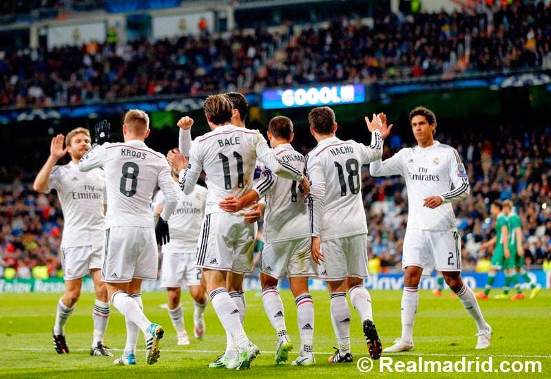Liga Champions : Real Madrid 4-0 Ludogorets