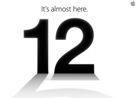 Zvonurile anunta lansarea iPhone 5 la evenimentul Apple de pe 12 septembrie 2012