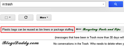 14 Recycling Facts and Tips In GMail Trash Folder