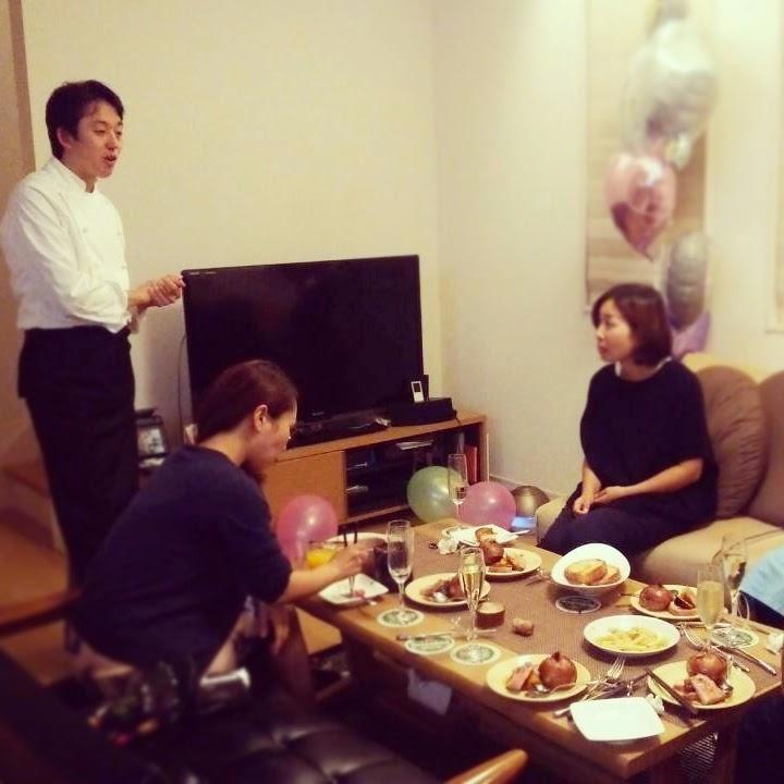 ご友人のサプライズ結婚祝いに高野シェフが出張料理:高野シェフ お客様 ご説明