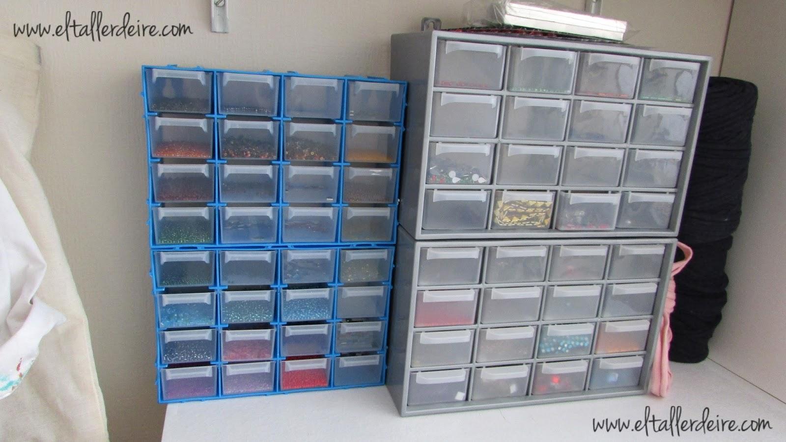 10 ideas para organizar tu taller de manualidades el - Cajoneras pequenas ...
