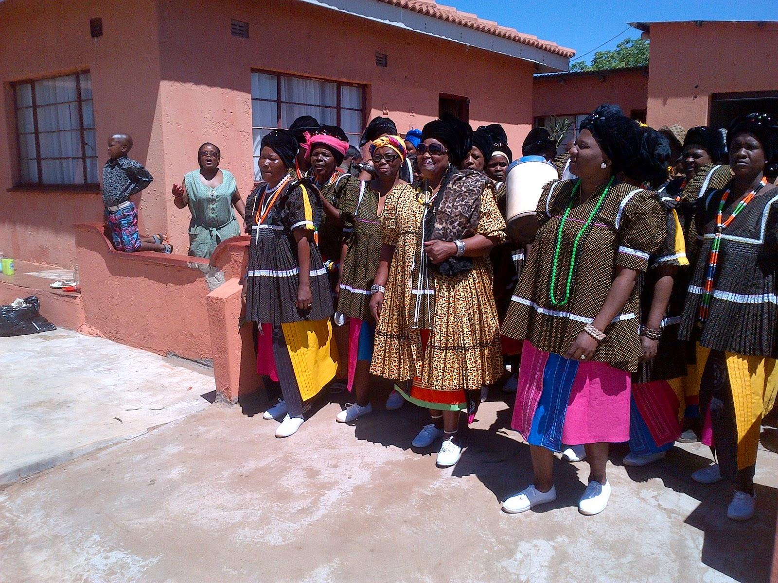Royal Highness accompanied by her sister in laws, in sepedi ke di ...