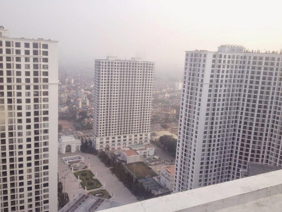 Tòa R6 Royal City nhìn từ trên cao tại tòa R2
