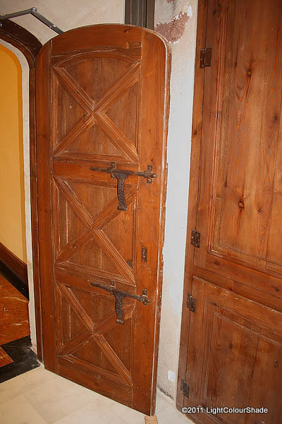 Old door with bolts