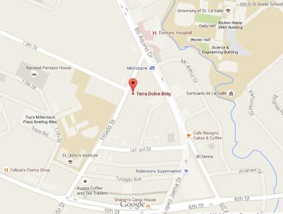 Ming Dimsum & Noodle Map Bacolod City
