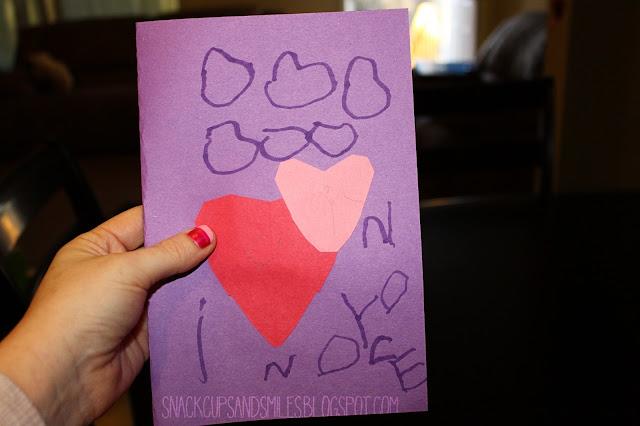 front of grandboys handmade valentine card