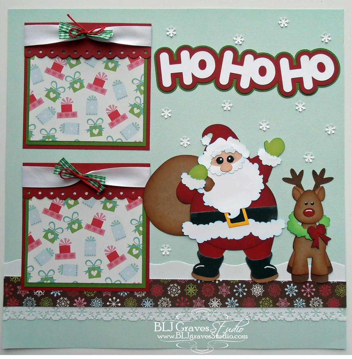 Blj graves studio christmas santa scrapbook page for Christmas layout ideas
