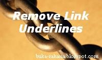cara menghapus underline link blogger