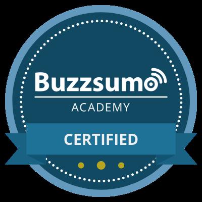 Buzzsumo Certified