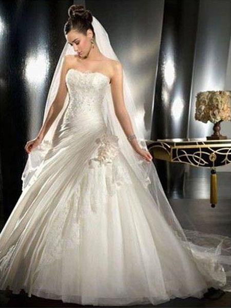 New York Fashion: Christmas Champagne Color Wedding Dresses 2012