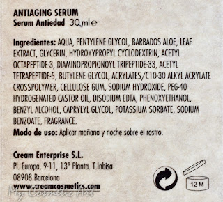 Sérum antiedad de Crea-m Cosmetics. The Older, The Smarter