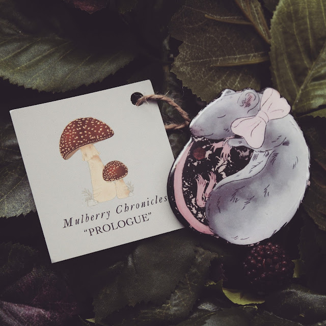 rat illustration pendant brooch mulberry chronicles hand made