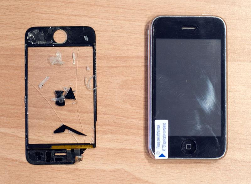 Как заменить стекло на айфоне 3gs
