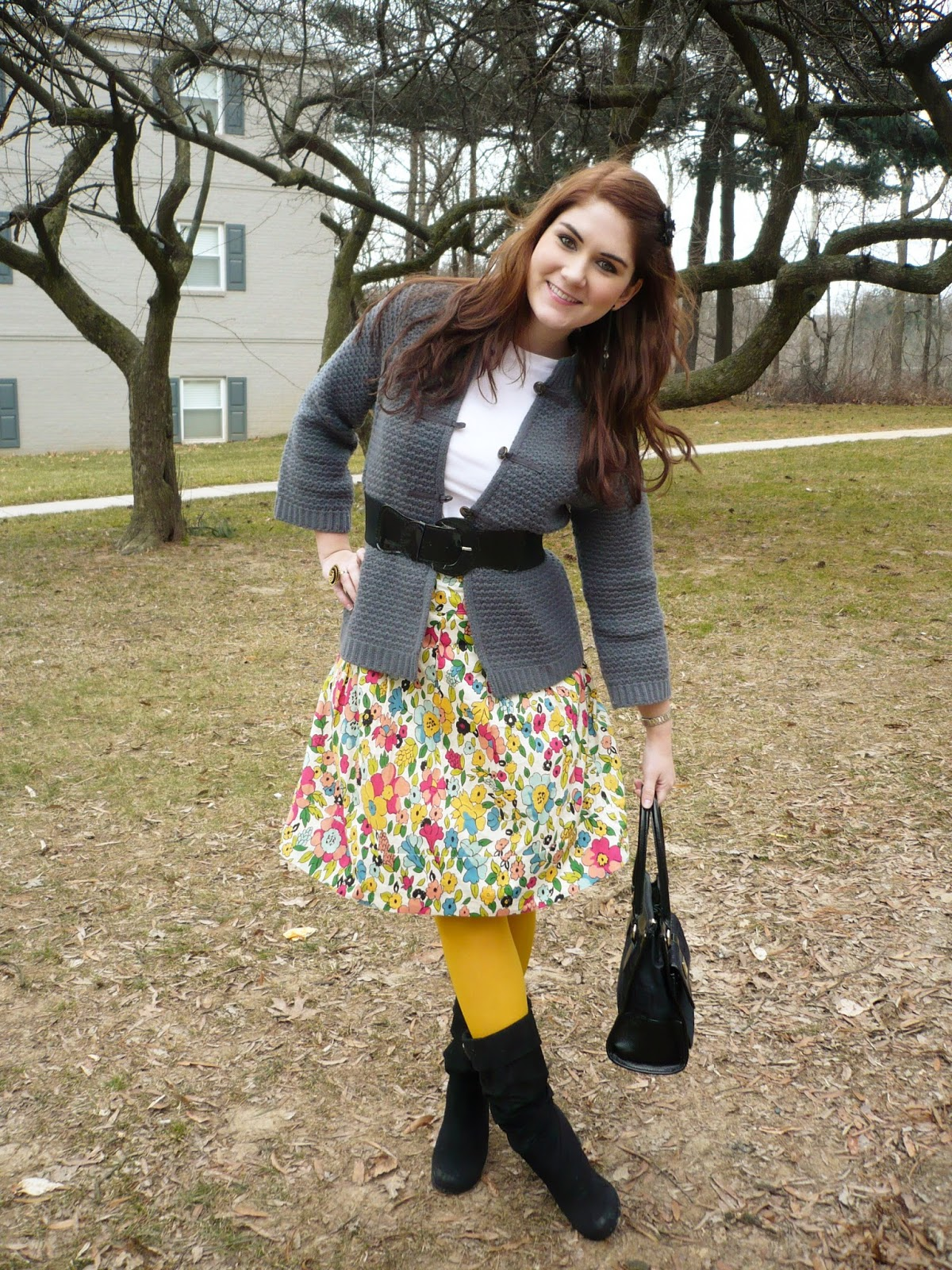 Yellow Tights Outfit