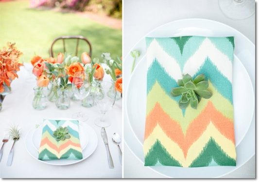 dukning orange turkost, vår dukning, dukning chevron, chevron mönster blommor, chevron mönster bröllop, dukning ranunkler tulpaner, tabel chevron, chevron pattern, chevron wedding, chevron flowers, chevron table setting, chevron flowers, spring table, orange turquoise table. enkle dukning blommor, simlpe table flowers