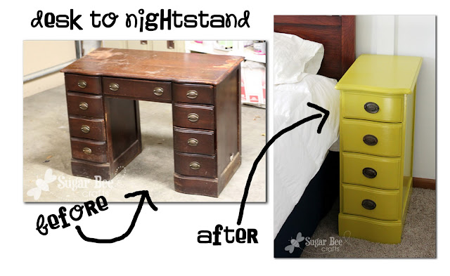 make a nightstand from a desk diy project idea