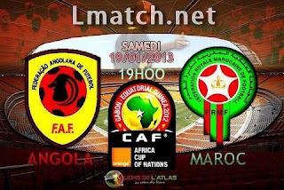بث مباشر المغرب ضد أنغولا كأس أفريقيا للأمم 2013 Maroc Vs Angola LIVE