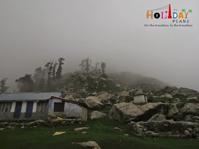 First glimpse of the Triund Peak