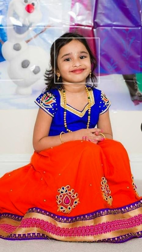 Baby In Orange Georgette Skirt Indian Dresses