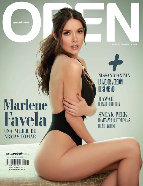 Marlene Favela Revista Open México - Agosto 2015 + PDF