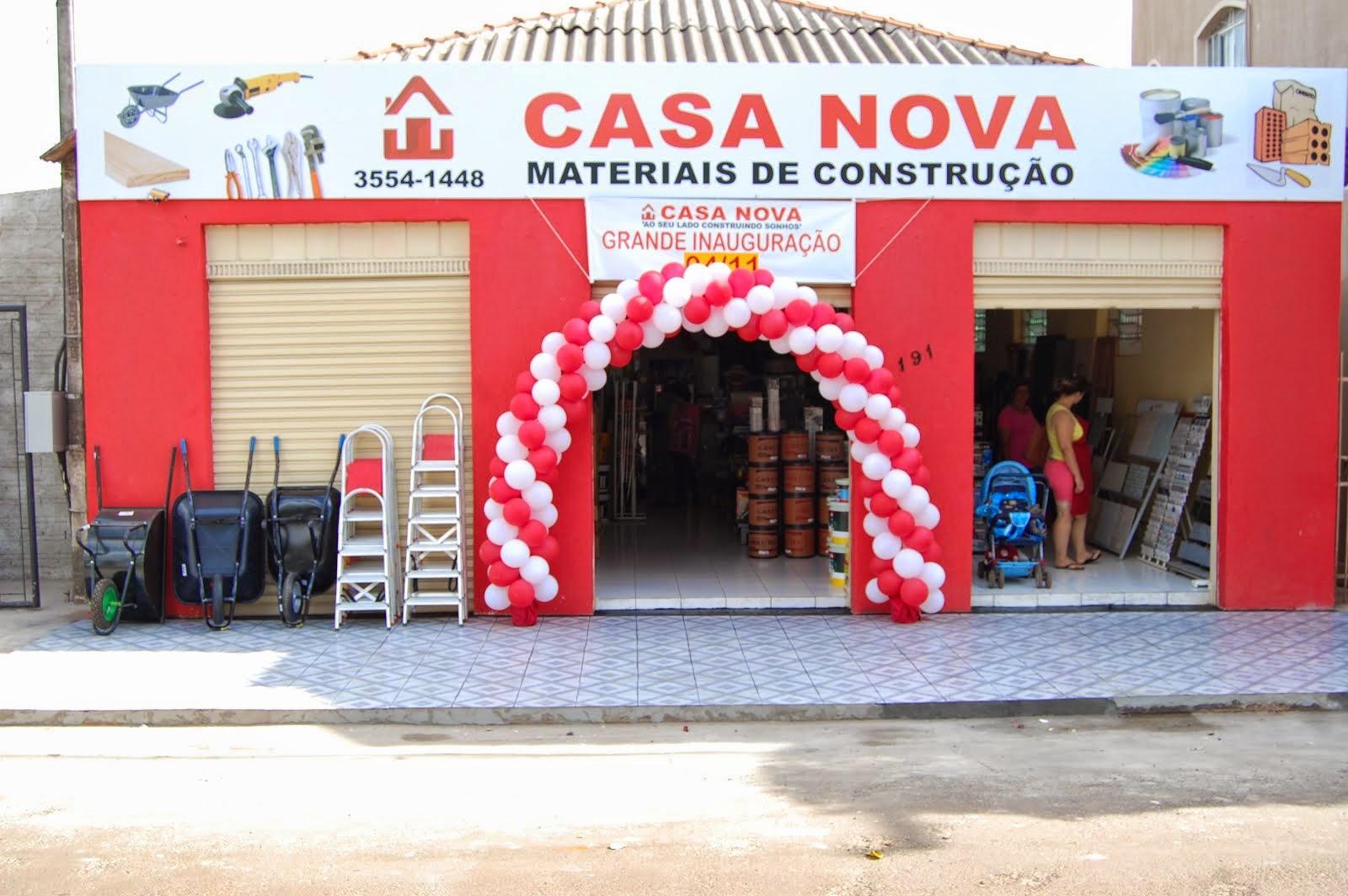 FOI INAUGURADO EM CONGONHINHAS, CASA NOVA MATERIAIS DE CONSTRUÇÃO..