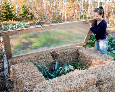 how to make a small round veggie garden